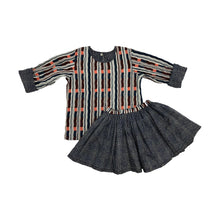 Load image into Gallery viewer, Stripe Reversible Skirt