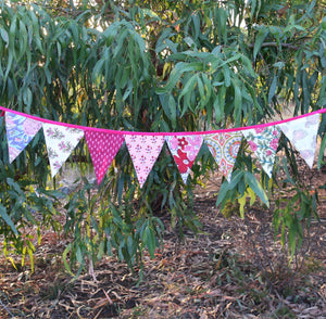 Bunting - hand printed