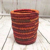 Handwoven Basket - Coral Pencil Holder