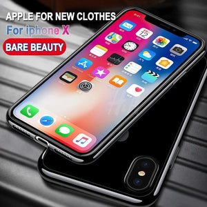 Silicone transparent case For iphone X