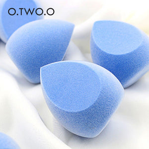 O.TWO.O Cosmetic Puff Microfiber Fluff Surface Non-Latex Powder Foundation Smooth Soft Makeup Blender Sponge Bigger in Water