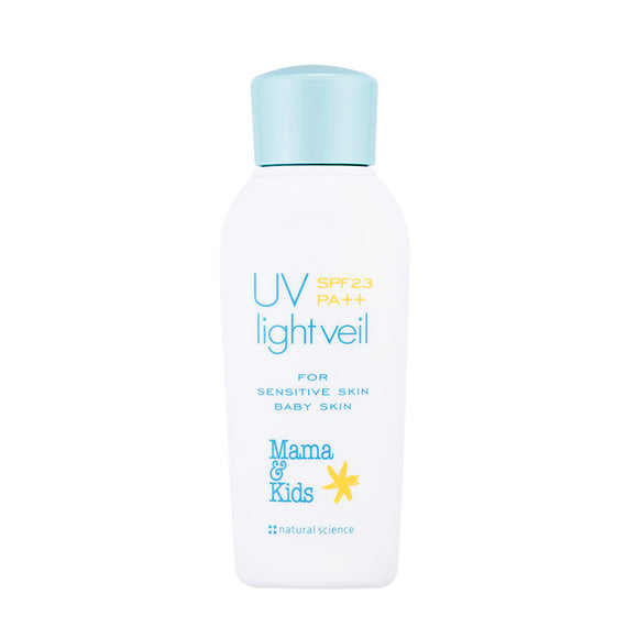 Mama & Kids UV light veil 防曬乳液 SPF23 PA++ 90ml (日本內銷版)