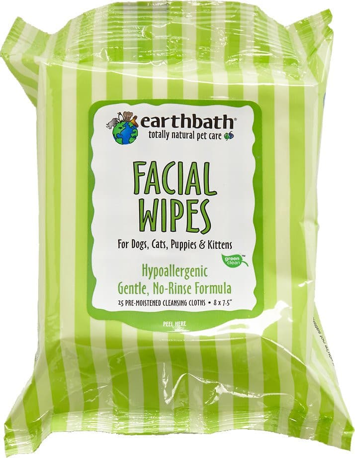 Earthbath Specialty Facial Wipes for Dogs & Cats, 25 count*.