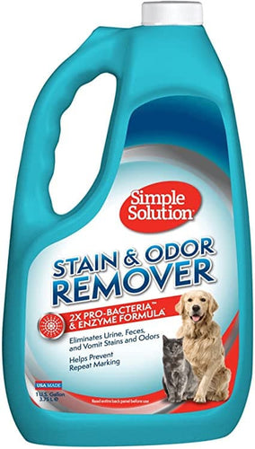 Simple Solution® Pet Stain & Odor Remover with 2X Pro-Bacteria & Enzyme Formula*.