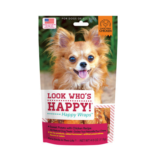 Sweet Potato & Chicken Dog Treats 4oz bag