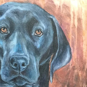 "Custom Pet Portrait 16"" x 20"" (Acrylic on Canvas) By Lilian"