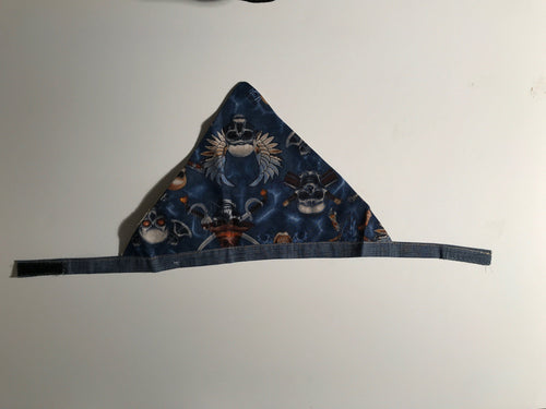 Denim Skull & Cross Bones Bandana