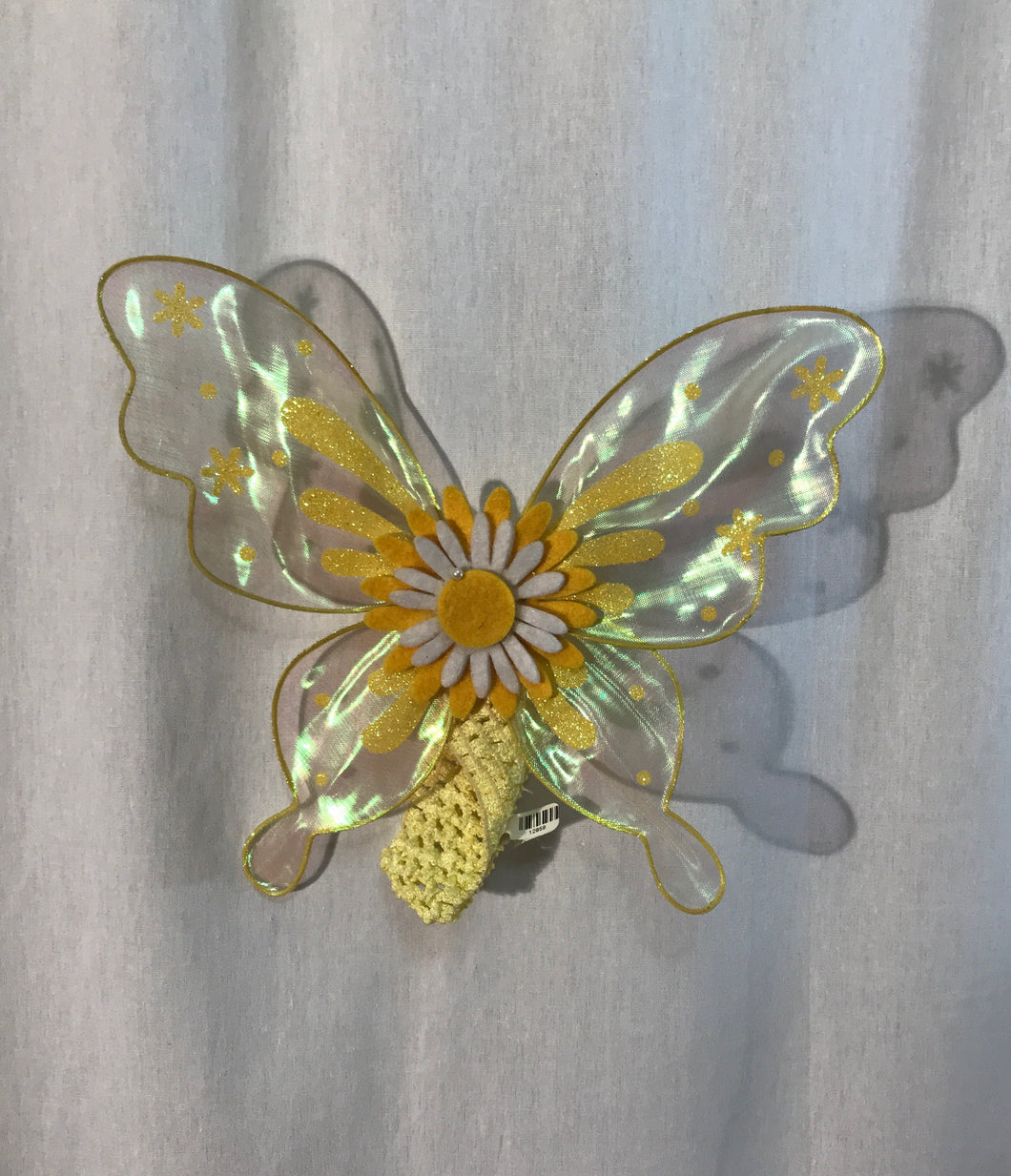 Sheer Yellow Butterfly Wings