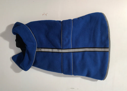 Blue Reflective Jacket with Vertical Stripe
