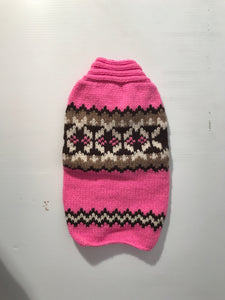 Hot Pink and Brown Sweater