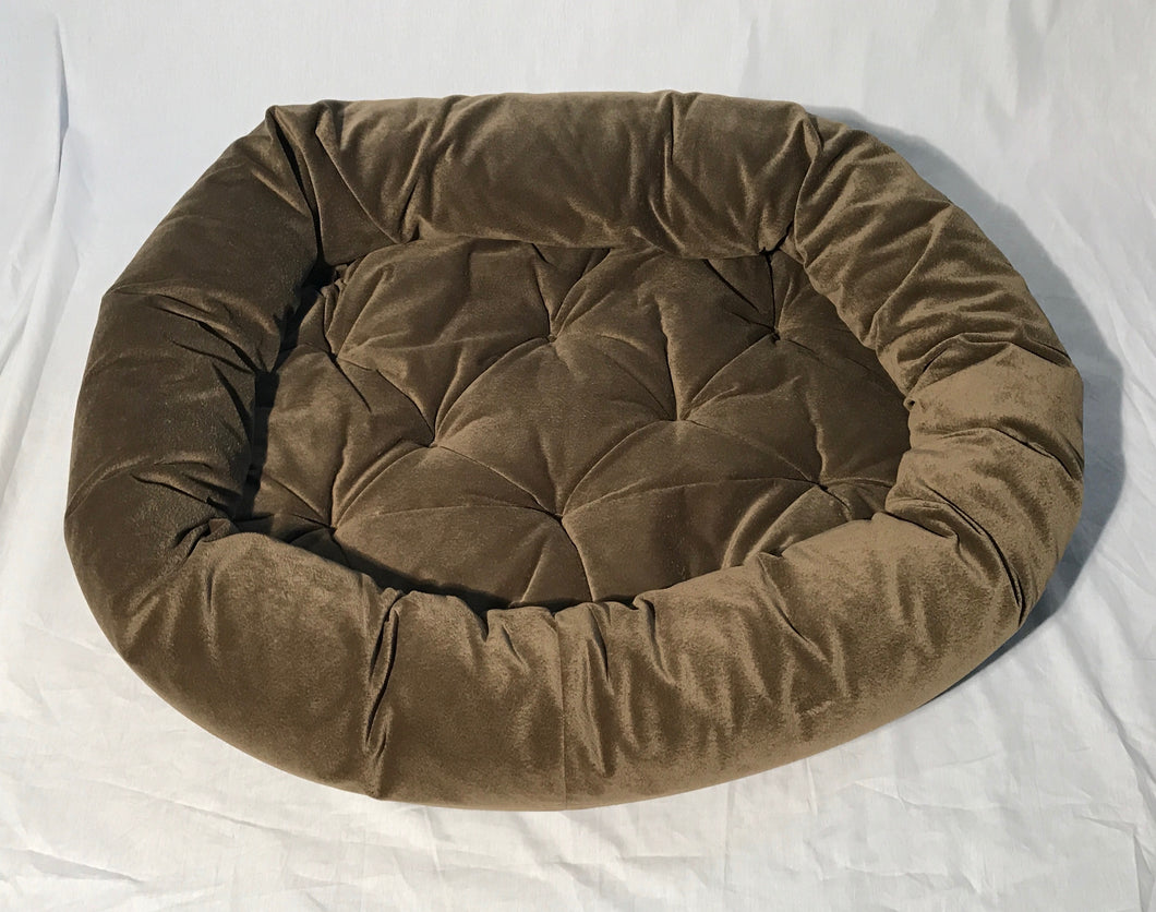 Donut Bed Olive Suede