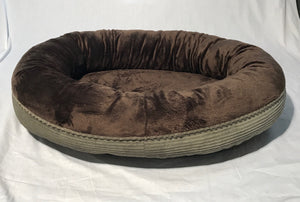 Sage and Brown Donut Bed