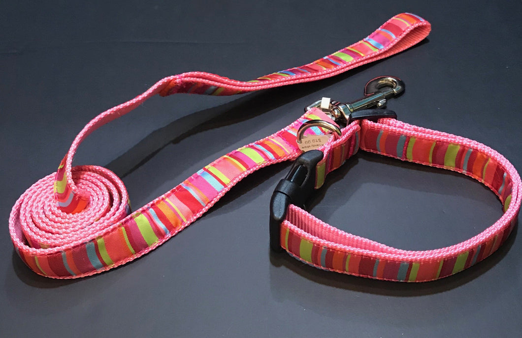 Pink Candy Stripe (Collars or Leads)