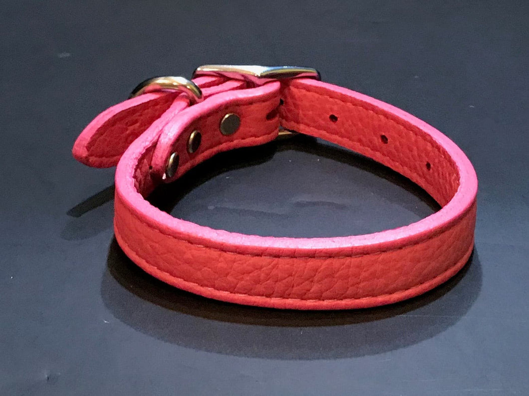 Pink Soft Leather Collar