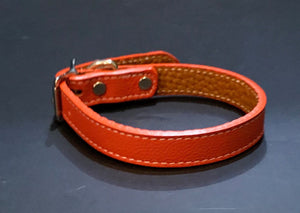 Orange Tuscan Leather Collar