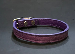 Purple Soft Leather Collar