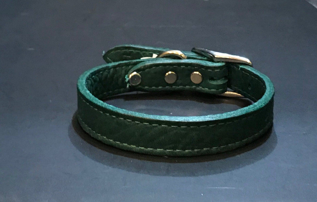 Green Soft Leather Collar*.