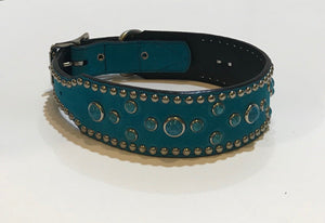 Turquoise Suede Collar