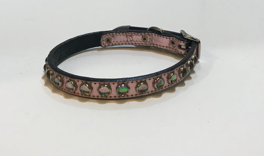Hot Pink Rhinestone Collar