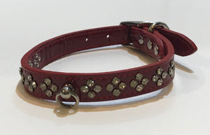 Crystal Leather Collar*.