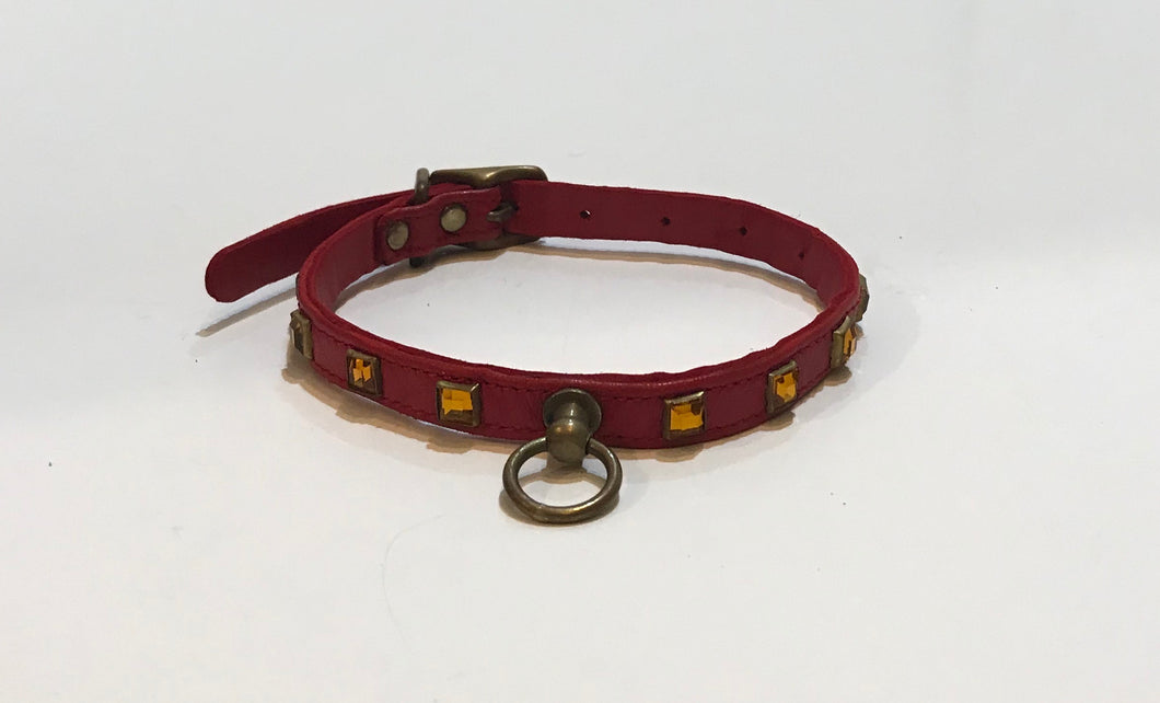 Jeweled Collar with Center Hook