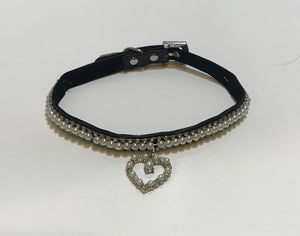 Black Pearl Heart Collar