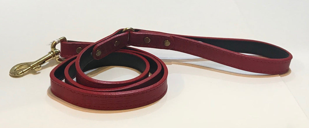 Croc Skin Leather Lead