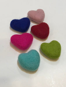 Felted Heart Cat Toy