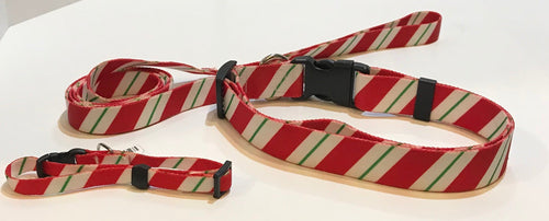 Peppermint Stick Collar and Lead