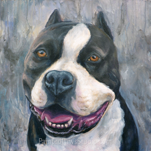 "Load image into Gallery viewer, Custom Pet Portrait 18"" x 24"" (Acrylic on Canvas) By Lillian"