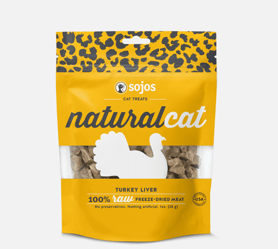 Sojos Natural Cat Turkey Liver Treats*.