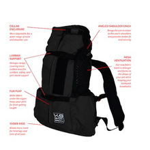 Load image into Gallery viewer, K9 Sport Sack AIR 2--JET BLACK*.