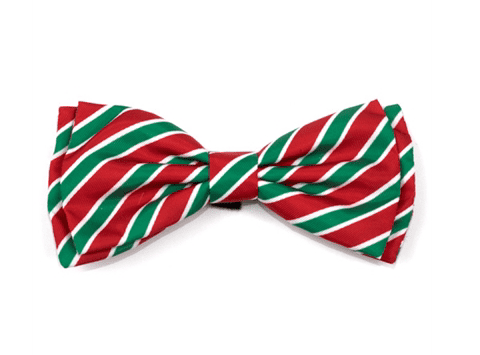 Holiday Stripe Bow Tie*.