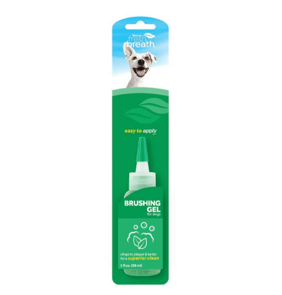 Fresh Breath by TropiClean Brushing Dental & Oral Care Gel for Dogs & Cats, 2oz.