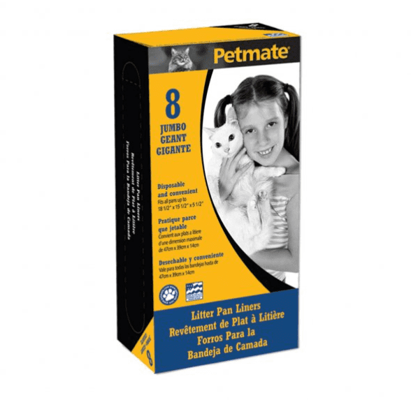 Petmate® Litter Pan Liners Clear Color 8 Count Jumbo.