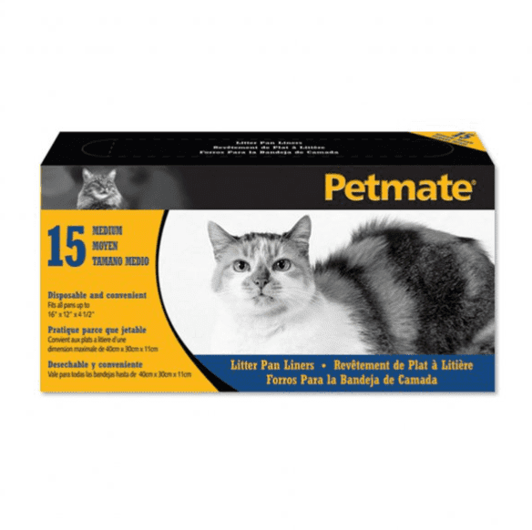 Petmate® Litter Pan Liners Clear Color 15 Count Medium.