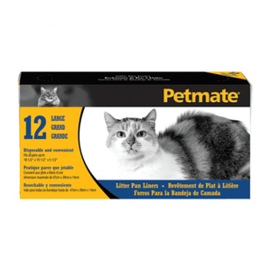 Petmate® Litter Pan Liners Clear Color 12 Count Large.