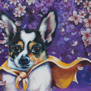 "Custom Pet Portrait 18"" x 24""  (Acrylic on Canvas) by Melissa"