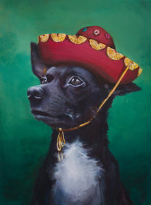 "Custom Pet Portrait 30"" x 40"" (Acrylic on Canvas) by Melissa"