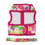 Load image into Gallery viewer, Fabric Dog Harness with Leash - Pink Hawaiian Floral
