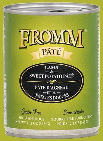 Fromm Lamb & Sweet Potato Pâté Dog Food.
