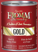 Load image into Gallery viewer, Fromm Beef & Barley Pâté Dog Food.
