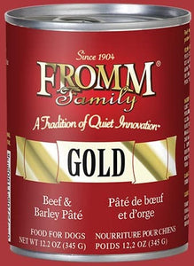 Fromm Beef & Barley Pâté Dog Food.