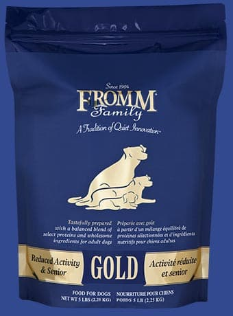 Reduced Gold Activity & Senior Dog Food*.
