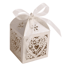 Load image into Gallery viewer, Love Heart Laser Cut Gift Treat Box