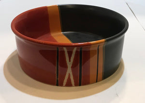 Multi Lined Dog Bowl