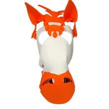 Load image into Gallery viewer, Horse Masks White/ Orange*.