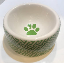 Load image into Gallery viewer, Geometric Print Dog Bowl
