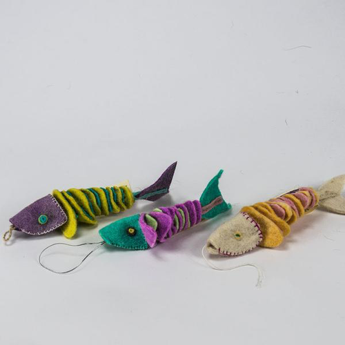 Felted Fish Cat Toy