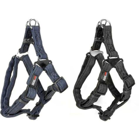 Denim Flat Step-In Harness